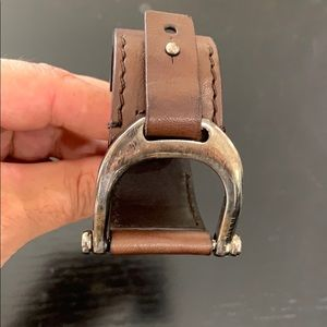 Authentic Gucci leather and silver bracelet